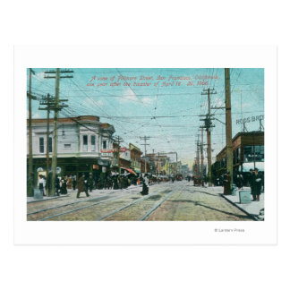 Fillmore Street View 1 Year After Fire of 1906 Postcard
