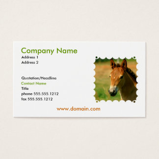 Filly Business Card
