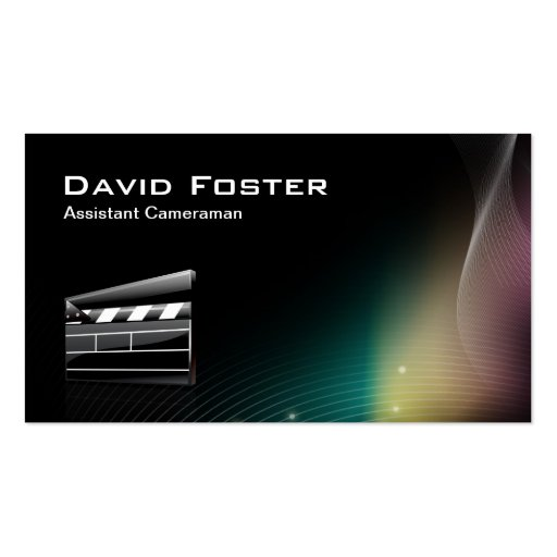 Film Assistant Cameraman Director Business Card Template