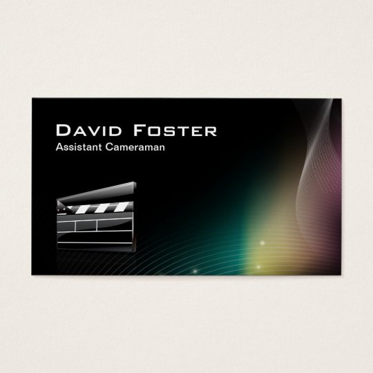 Film Assistant Cameraman Director Business Card