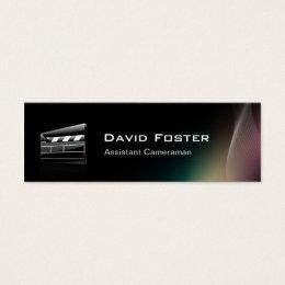 Theatrical business cards templates zazzle film assistant cameraman director mini business card colourmoves