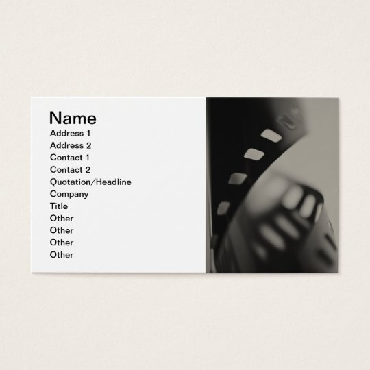 Film Background Business Card