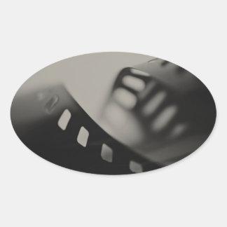 Film Background Oval Sticker