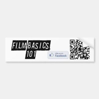 Film Basics 101 Bumper Sticker Car Bumper Sticker