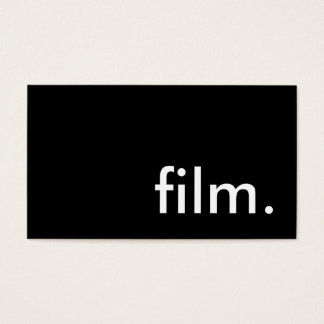 film. business card