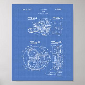 Film Camera 1940 Patent Art - Blueprint Poster