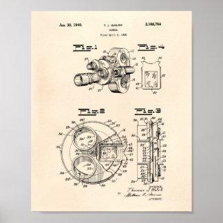 Film Camera 1940 Patent Art - Old Peper Poster