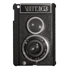 Film Camera Black Chrome Vintage Ipad Mini Case at Zazzle