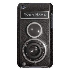Film Camera Black Chrome Vintage Ipod Touch 4g N Ipod Case-mate Case at Zazzle