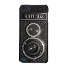 Film Camera Black Chrome Vintage iPod Touch 5G iPod Touch 5G Cover at Zazzle