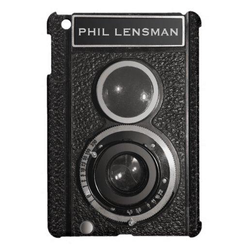 Film Camera Black Vintage Your Name iPad Mini Case