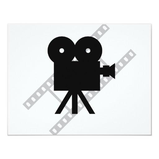 film camera icon 4.25x5.5 paper invitation card