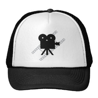 film camera icon trucker hat