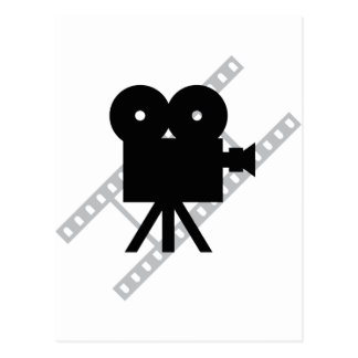 film camera icon postcard