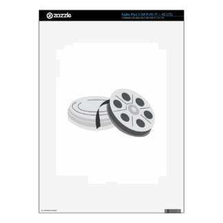 Film Cans Decals For iPad 3
