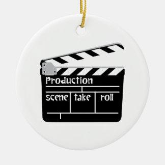 Film Clapper Ceramic Ornament