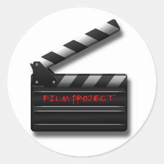 Film Clapper Classic Round Sticker