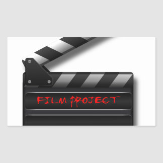 Film Clapper Rectangular Sticker