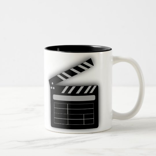 FILM CLAPPERBOARD Two-Tone COFFEE MUG