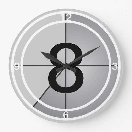 Film Countdown Large Clock