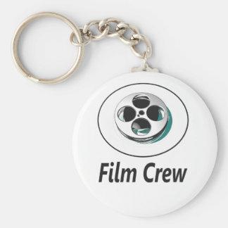 Film Crew Basic Round Button Keychain