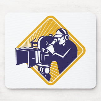 film crew cameraman shooting filming camera mousepads