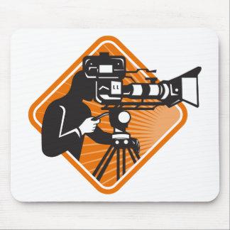 film crew cameraman shooting filming camera mouse pad