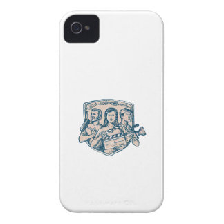 Film Crew Clapperboard Cameraman Soundman Etching Case-Mate iPhone 4 Cases