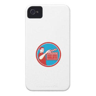 Film Crew Clapperboard Circle Retro Case-Mate iPhone 4 Case
