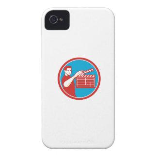 Film Crew Clapperboard Circle Retro iPhone 4 Case-Mate Cases
