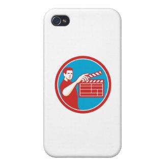 Film Crew Clapperboard Circle Retro iPhone 4/4S Covers