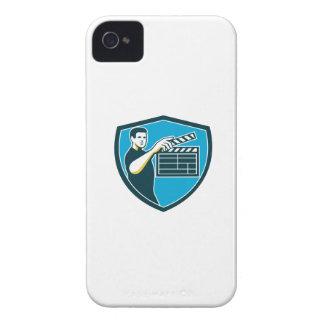 Film Crew Clapperboard Shield Retro iPhone 4 Case-Mate Cases