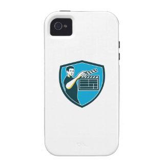 Film Crew Clapperboard Shield Retro iPhone 4/4S Cases