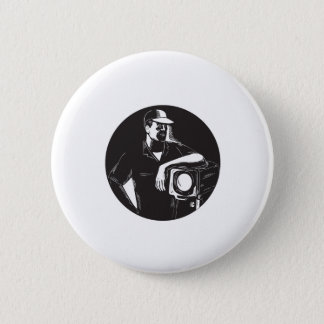 Film Crew Lighting Fresnel Spotlight Circle Woodcu Button