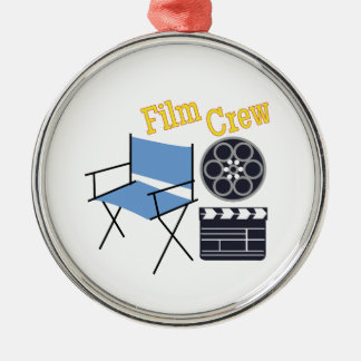 Film Crew Metal Ornament