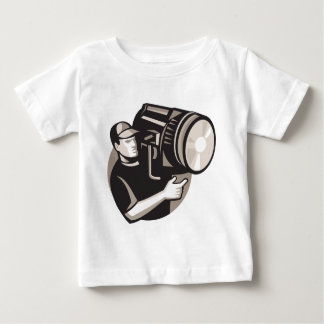 film crew with spotlight fresnel light baby T-Shirt
