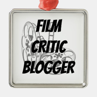 Film Critic Blogger Metal Ornament