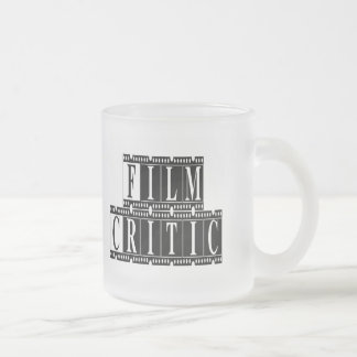 Film Critic T-shirts and Gifts. Frosted Glass Coffee Mug