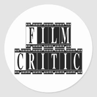 Film Critic T-shirts and Gifts. Classic Round Sticker