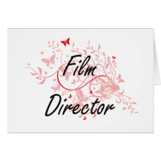 Film Director Artistic Job Design with Butterflies Card