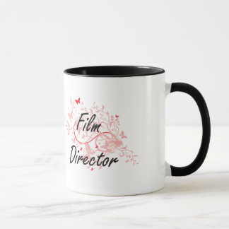 Film Director Artistic Job Design with Butterflies Mug