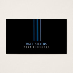 Film Director Business Card Blue Beams at Zazzle