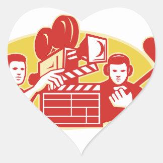 Film Director Movie Camera Clapper Soundman Heart Sticker