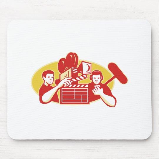 Film Director Movie Camera Clapper Soundman Mouse Pad