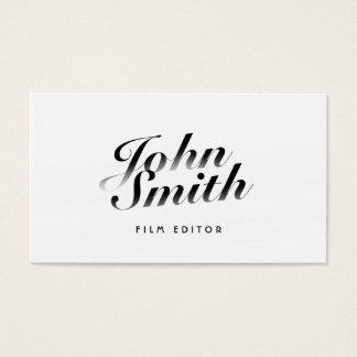 Film Editor Classy Calligraphic Business Card