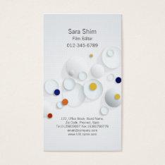 Film Editor Visual Arts Media Abstract Dots Business Card at Zazzle