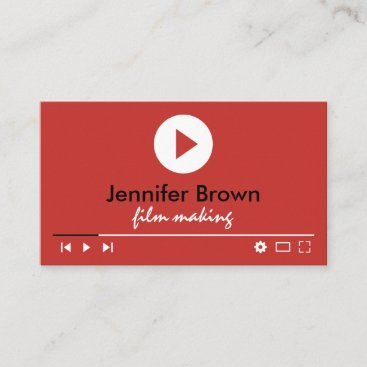 Film Editor Youtuber Video Director Production Business Card