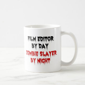 Film Editor Zombie Slayer Classic White Coffee Mug