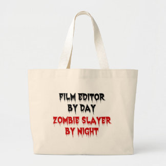 Film Editor Zombie Slayer Large Tote Bag