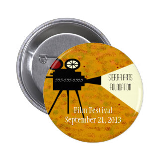 Film Festival Camera Pinback Button